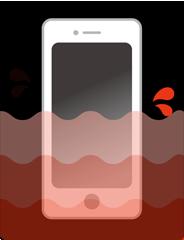 iPhone(アイフォン)水没復旧作業